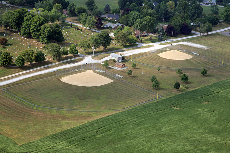 athletic field construction by Orr construction of apple creek Ohio