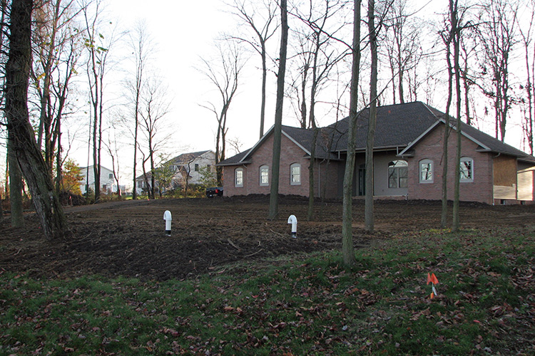 residential site work by Orr construction