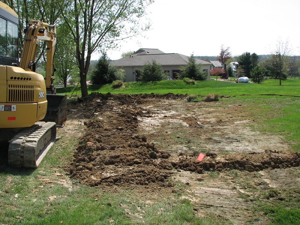 completed septic line repair