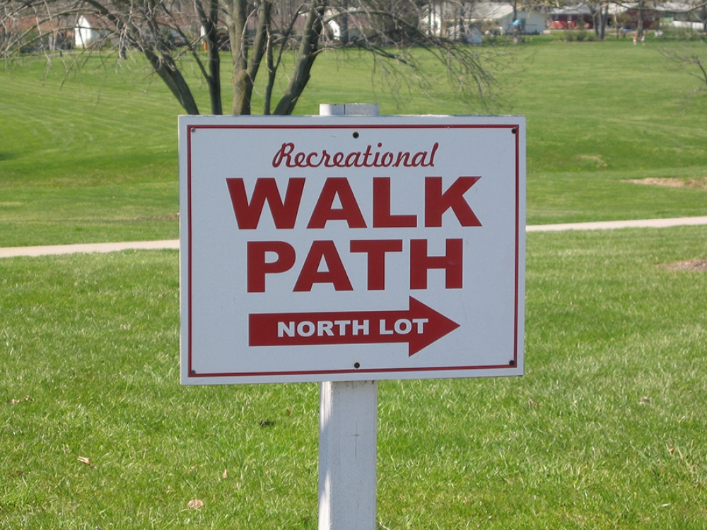welcome to kinney field walking paths