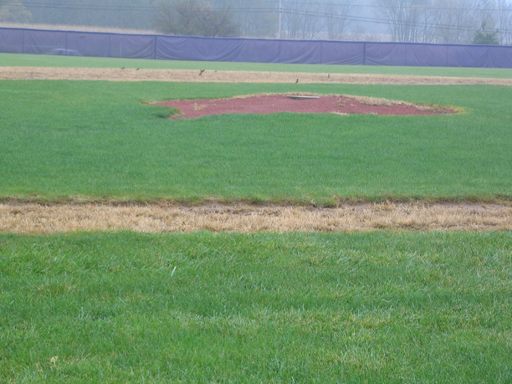 triway baseball field pitchers mound before work