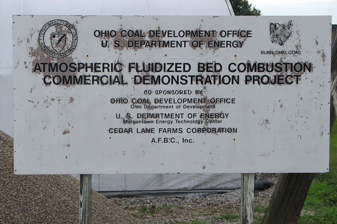 official project sign as posted at Cedar Lane Farms