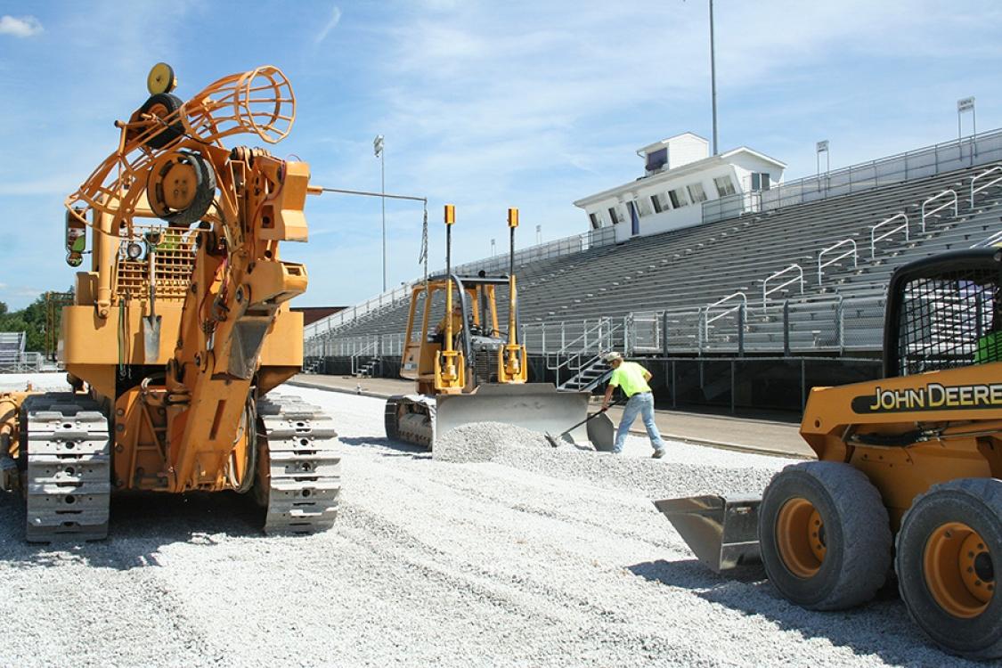 more gravel base