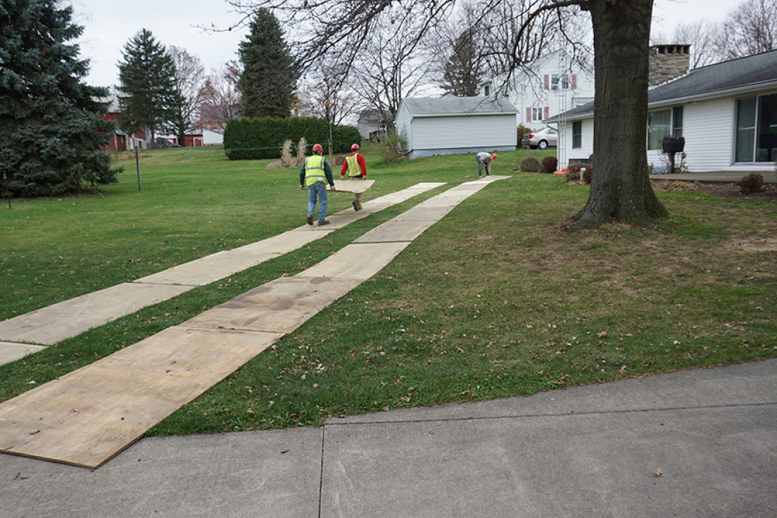 laying tracks to protect property