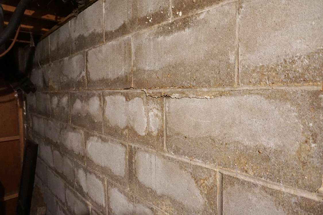 staining on blocks and damage to mortar