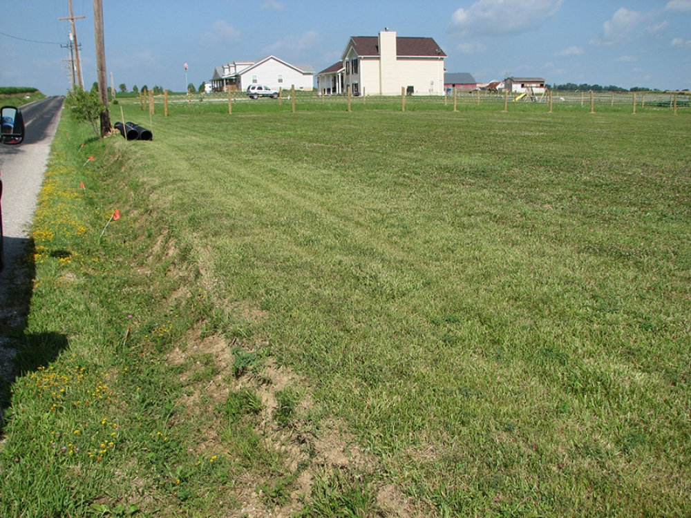 ditch prior to culvert and driveway