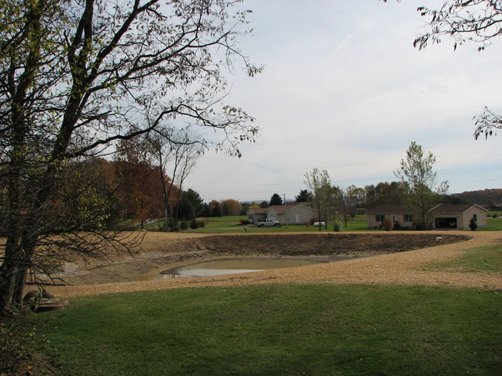 completed pond by Orr construction