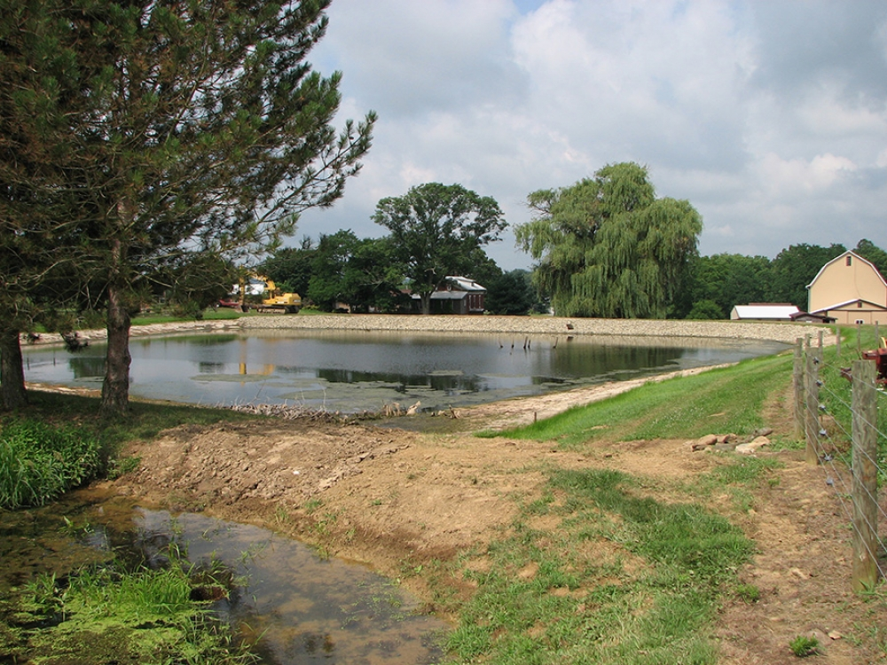 completed pond repair